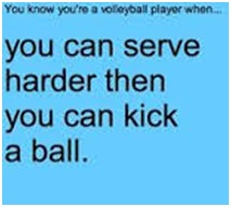 Difference between a Volleyball Player and a Soccer Player